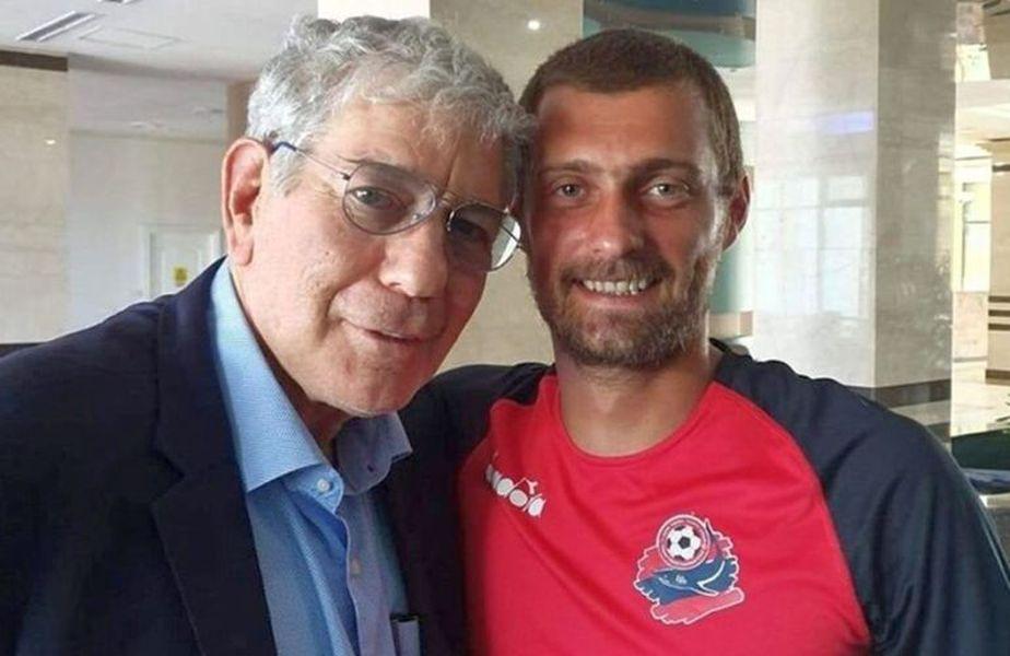 Gabi Tamaș, alături de Yoav Katz, patronul lui Hapoel Haifa