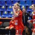 Maren Aardahl bucuroasa după un meci bun făcut de ea și echipa ei FOTO Marius Ionescu