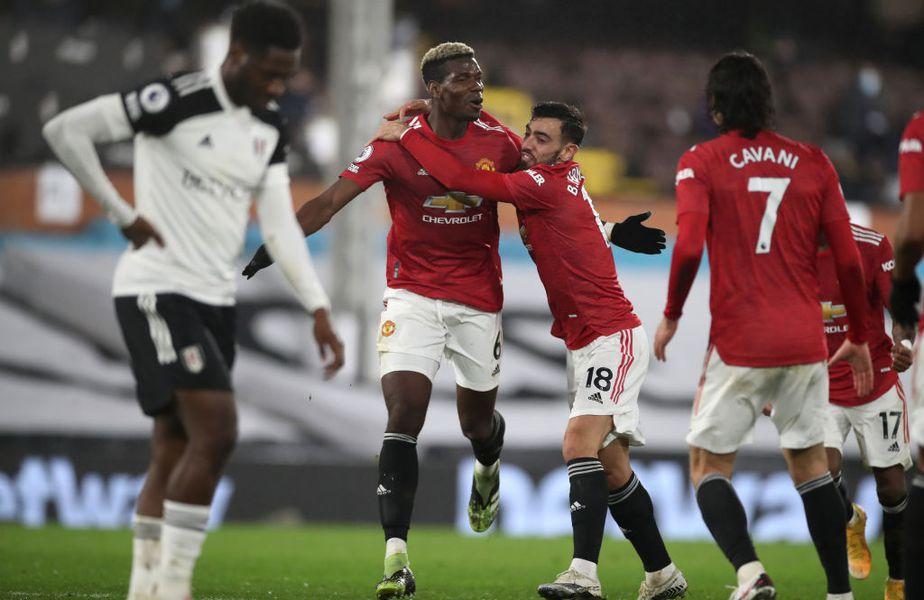 Paul Pogba (27 de ani) a marcat golul decisiv în victoria lui Manchester United, scor 2-1, pe terenul lui Fulham.