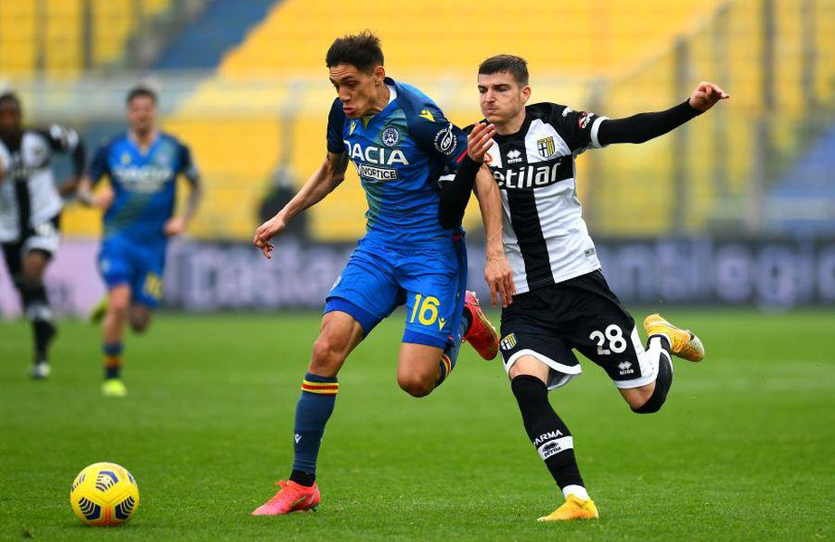 Valentin Mihăilă (dreapta), în Parma - Udinese 2-2 // foto: Guliver/gettyimages