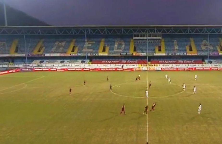 Iulian Cristea (26 de ani), fundașul central al celor de la FSCB, a fost surprins în tribune la meciul dintre Gaz Metan și CFR Cluj.