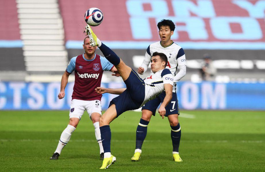 Tottenham a fost învinsă de West Ham, scor 1-2, în runda cu numărul 25 din Premier League. Fundașul stânga Sergio Reguilon (24 de ani) a avut o ieșire nervoasă la adresa arbitrului Craig Pawson.