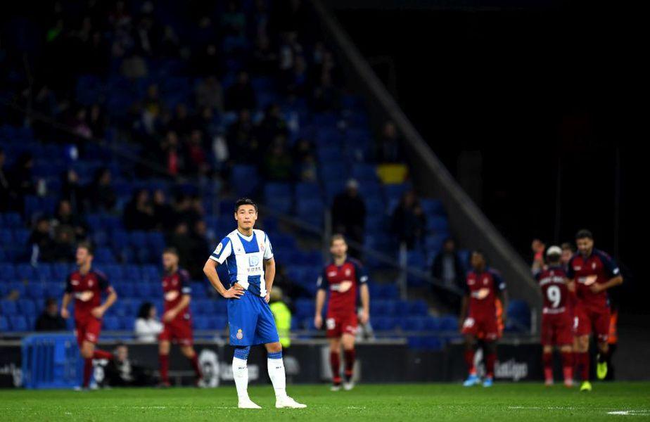 Wu Lei în tricoul lui Espanyol //Sursa: Getty