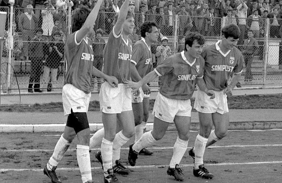 În peste 70 de ani de istorie, Dinamo are două mari isprăvi pe continent: o semifinală de CCE, în 1984, și o semifinală de C2, în 1990. Ambele izbutite în zile de 21 de martie. Foto: Arhivă GSP