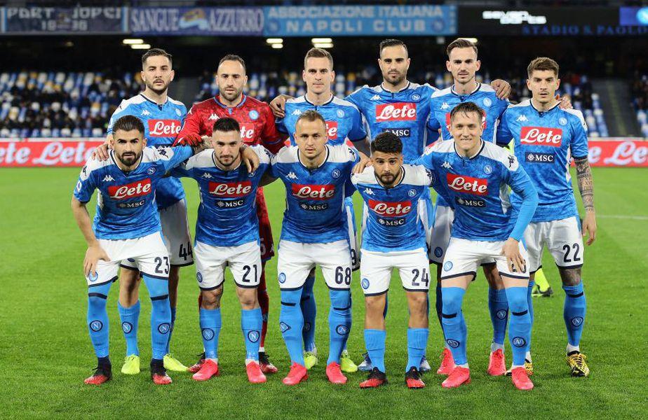 Napoli este pe locul 6 în Serie A, cu 39 de puncte acumulate după 26 de etape // Sursă foto: Getty
