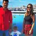 José Romera Navarro, alături de soție și de copilul lor, în Puerto Banus. Sursă foto: Instagram