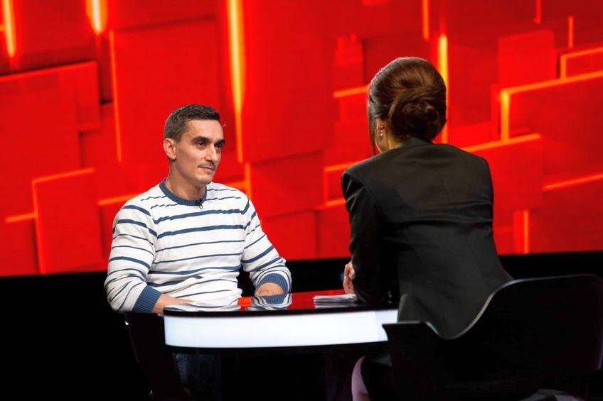 Marian Drăgulescu, la emisiunea lui Denise Rifai // foto: Facebook @ 40 de întrebări cu Denise Rifai