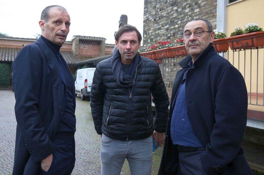 Maurizio Sarri (primul din dreapta) este curtat de Tottenham // foto: Guliver/gettyimages