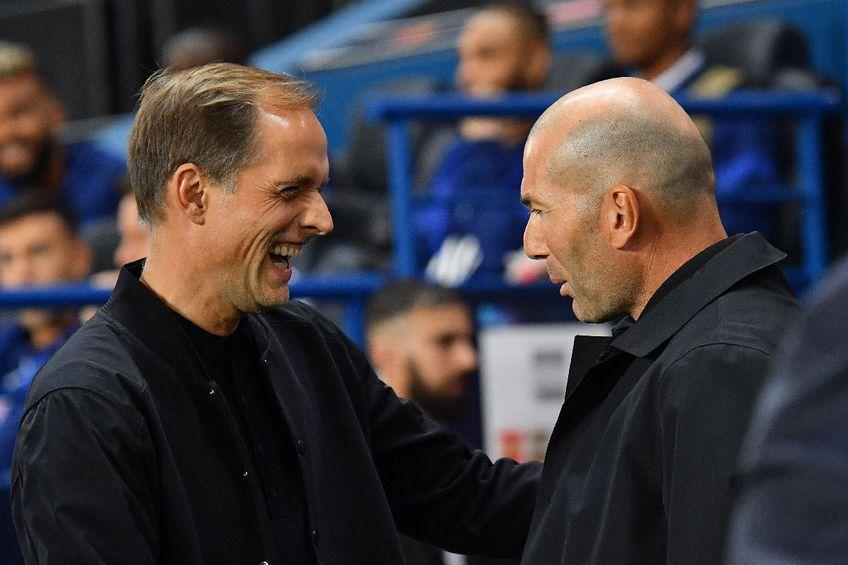 Thomas Tuchel și Zinedine Zidane FOTO Imago