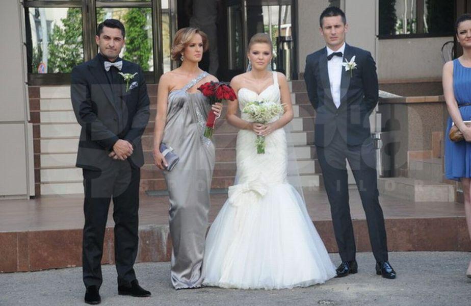 Diana Munteanu, lângă fostul soț Claudiu Niculescu, la nunta lui Dragoș Grigore
