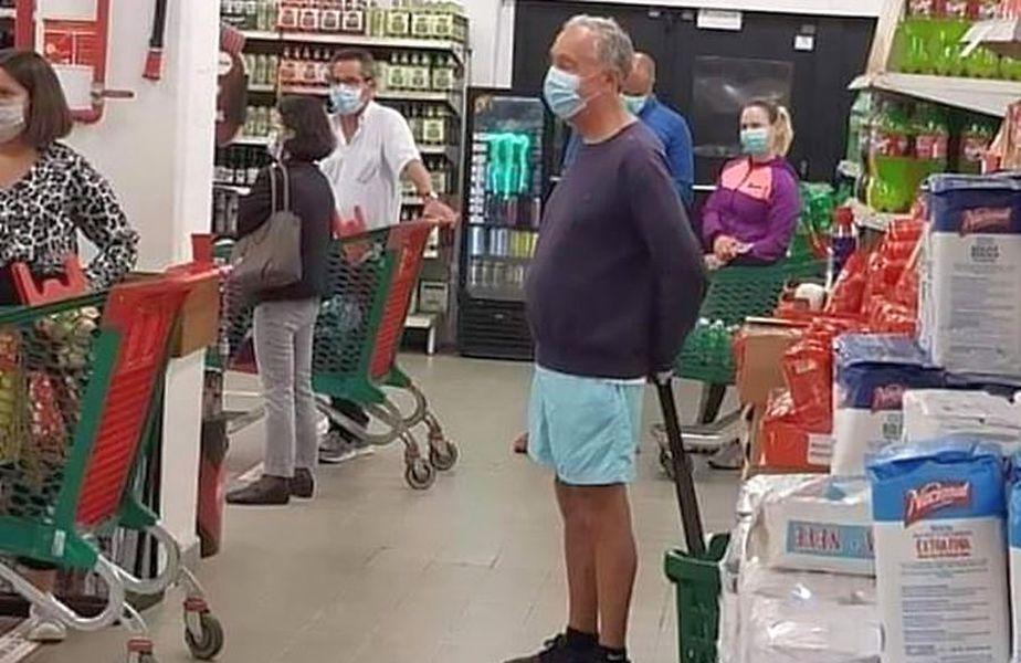 Președintele Portugaliei, la cumpărături