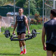 Antrenament CFR Cluj, 21.06.2021, cu preparatorul fizic, în cantonamentul din Austria (foto: Raed Krishan/GSP)