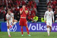 Gafa incredibilă în Rusia - Danemarca, meci decisiv din grupa B! Poulsen s-a trezit cu mingea la picior, în fața porții goale