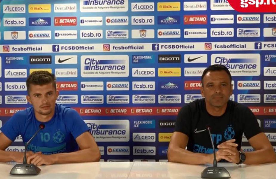 Florin Tănase (stânga) și Toni Petrea, în cadrul conferinței de presă