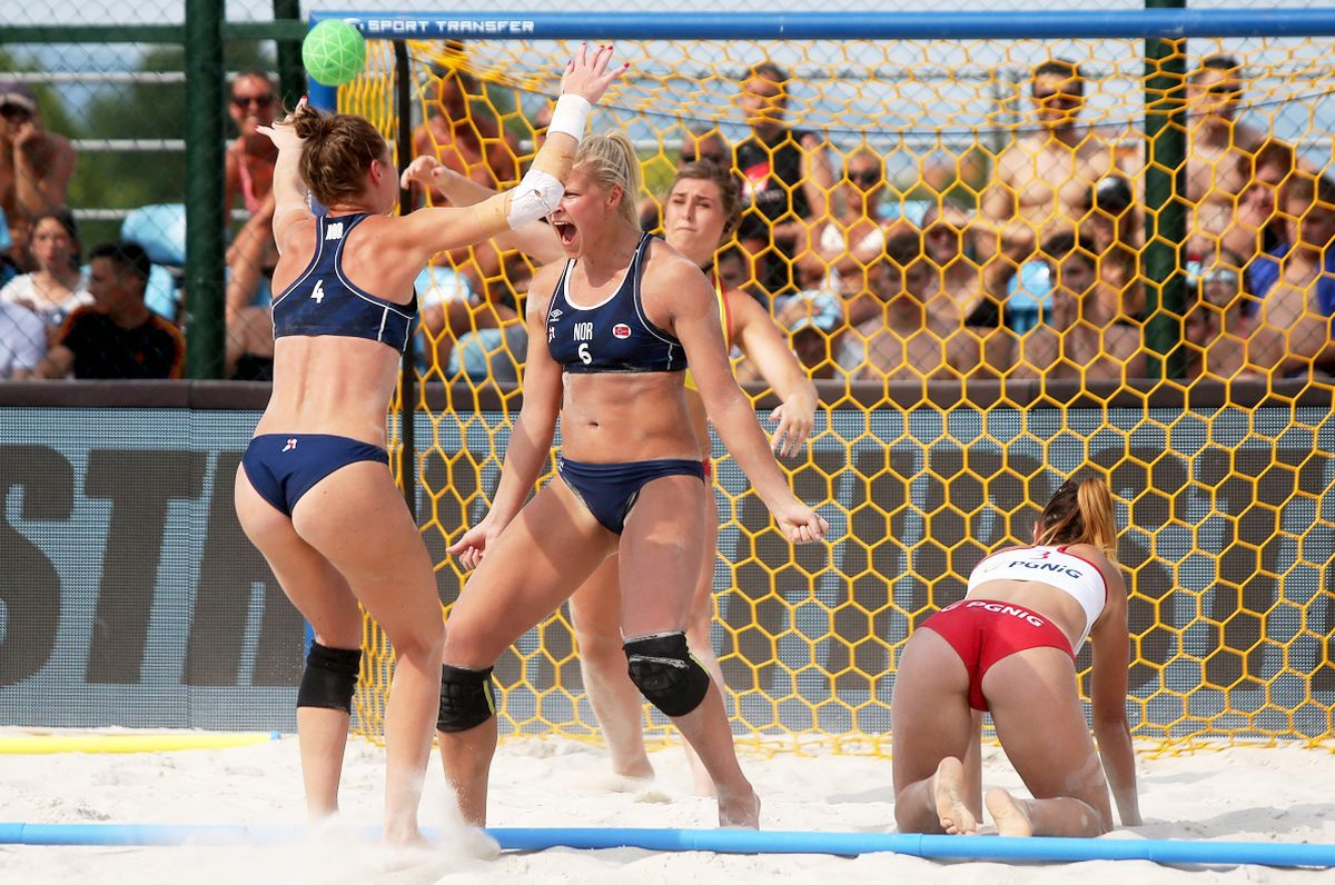Scandal la Europenele de la Varna » Norvegiencele, amendate pentru că nu au purtat bikini!