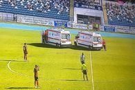 Momente de spaimă la meciul Poli Iaşi - U Cluj » 2 jucători au fost duși la spital în primele 22 de minute ale jocului