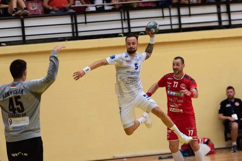 Ionuț Nistor, căpitanul echipei, în plină acțiune pe extremă