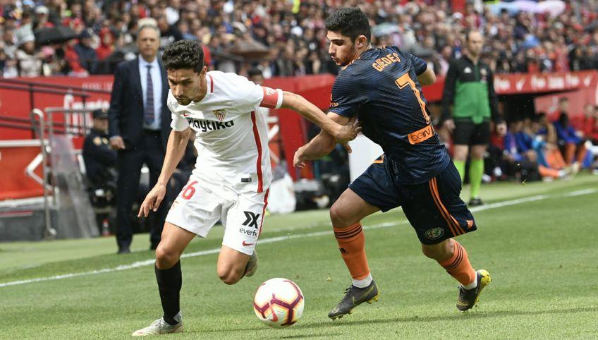 Navas și Guedes se vor duela din nou în La Liga // sursă foto: sevillafc.es
