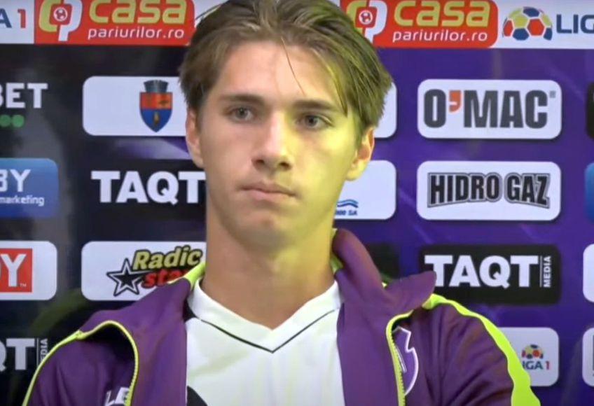 Vlad Tudor / Captură FC Argeș TV