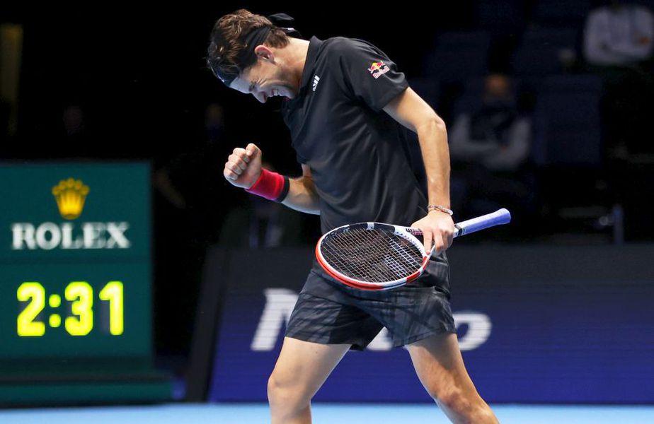 Dominic Thiem (3 ATP, 27 de ani) l-a eliminat pe Novak Djokovic (33 de ani) în semifinalele de la Turneul Campionilor, foto: Guliver/gettyimages
