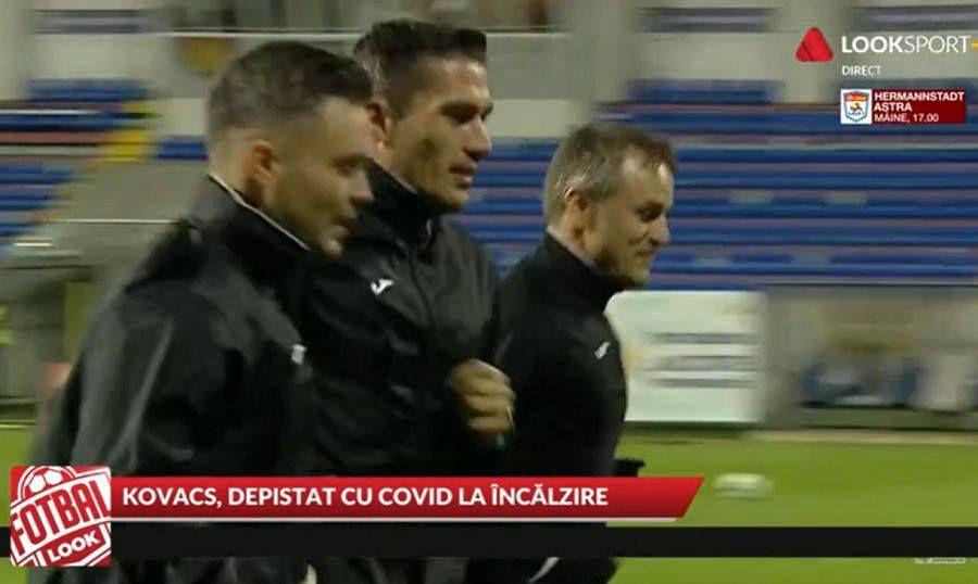 Istvan Kovacs la încălzire înainte de meci. Captură Look Sport+