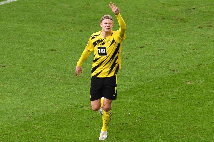 Erling Haaland, în Hertha - Borussia Dortmund 2-5 // foto: Imago
