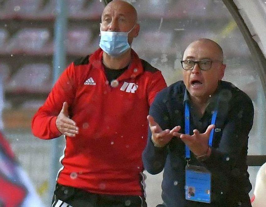 Robert Ilyeș (46 de ani), antrenorul secund al oaspeților, e mândru de prestația covăsnenilor.
