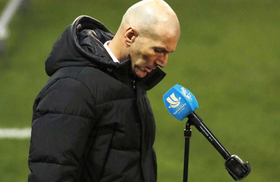 După ce a ratat cu Real Madrid două competiții în șapte zile, Zidane, 48 de ani, a fost depistat pozitiv la COVID-19.