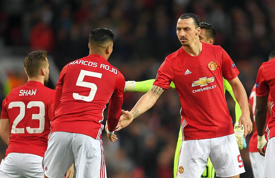 Marcos Rojo și Zlatan Ibrahimovic, foto: Guliver/gettyimages