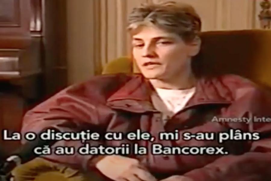 Mariana Cetiner, în interviul pentru Amnesty International, în 1998