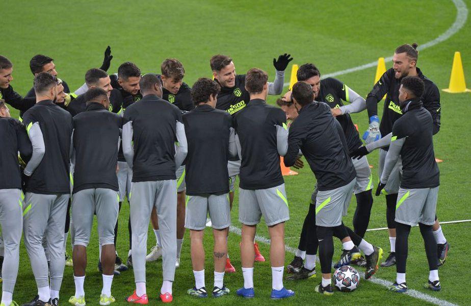 Distracție la antrenamentul lui Atletico Madrid pe Arena Națională