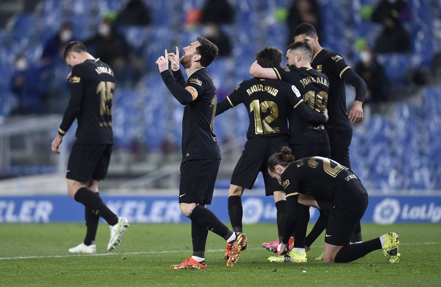 "Barcelona a zdrobit-o pe Sociedad, scor 6-1, Messi reușind o ""dublă"". Foto: Guliver/GettyImages"