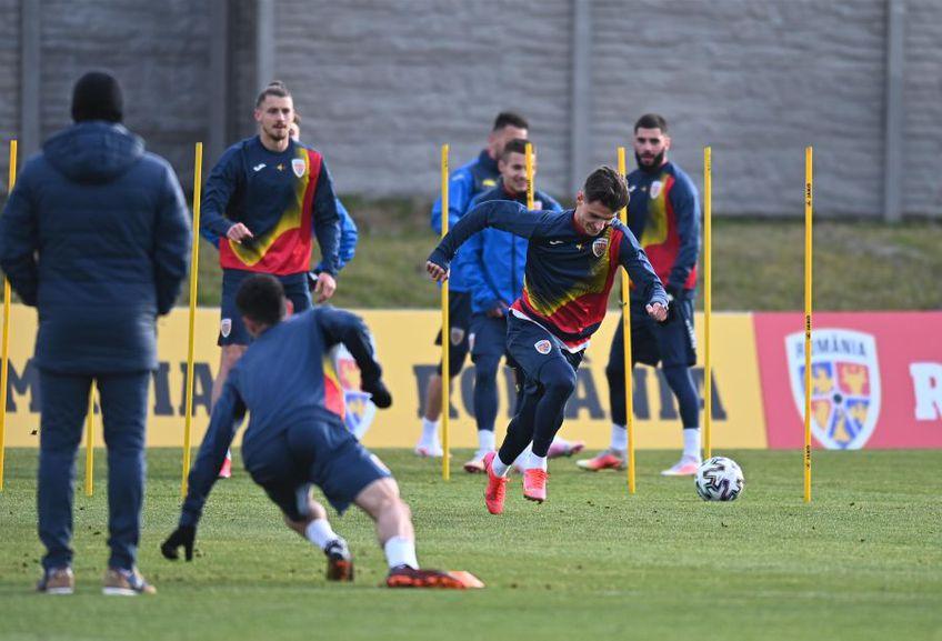 Naționala U21 a României a efectuat în această după amiază, ora locală 16:30, primul antrenament în efectiv complet.