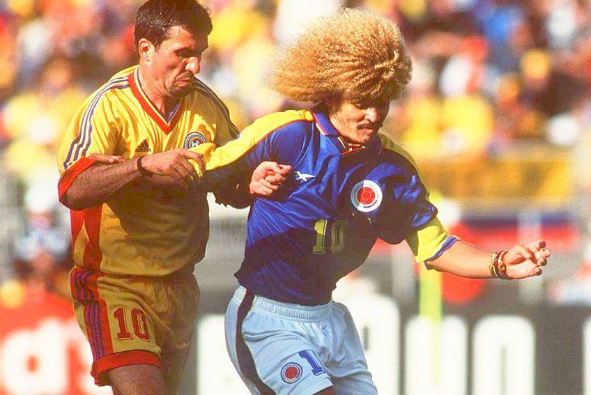 Gică Hagi în duel cu Valderrama, la World Cup 1998, foto: Guliver/gettyimages