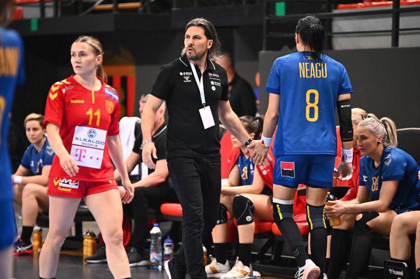 Cristina Neagu a jucat în ultimul meci, la Skopje, 25 de minute, după care a fost schimbată FOTO Raed Krishan