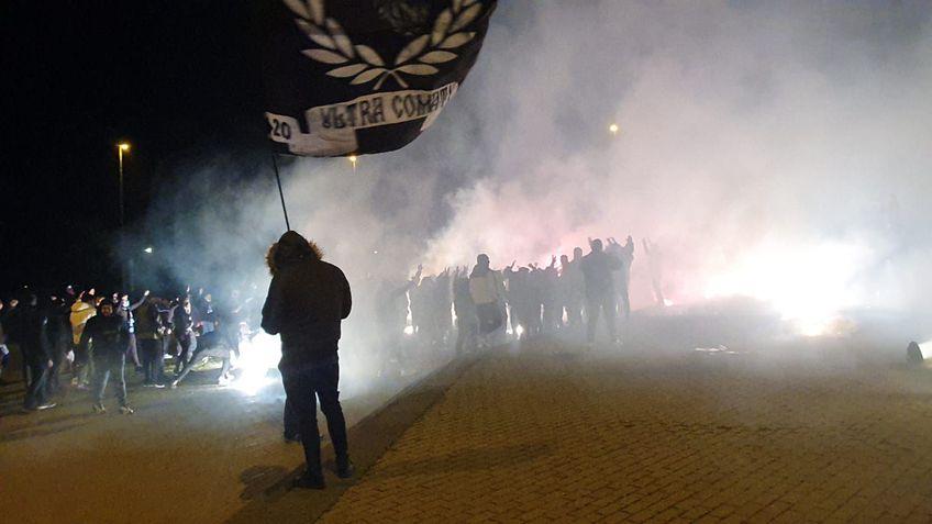 Fanii lui FC U Craiova, înaintea meciului cu Rapid. FOTO: GSP