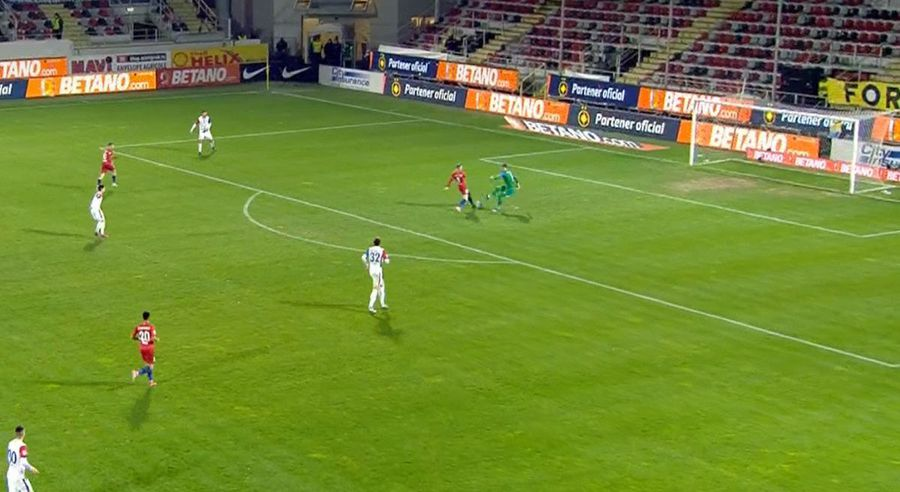 FCSB - FC Botoșani: Eduard Pap, gafă uriașă la Giurgiu