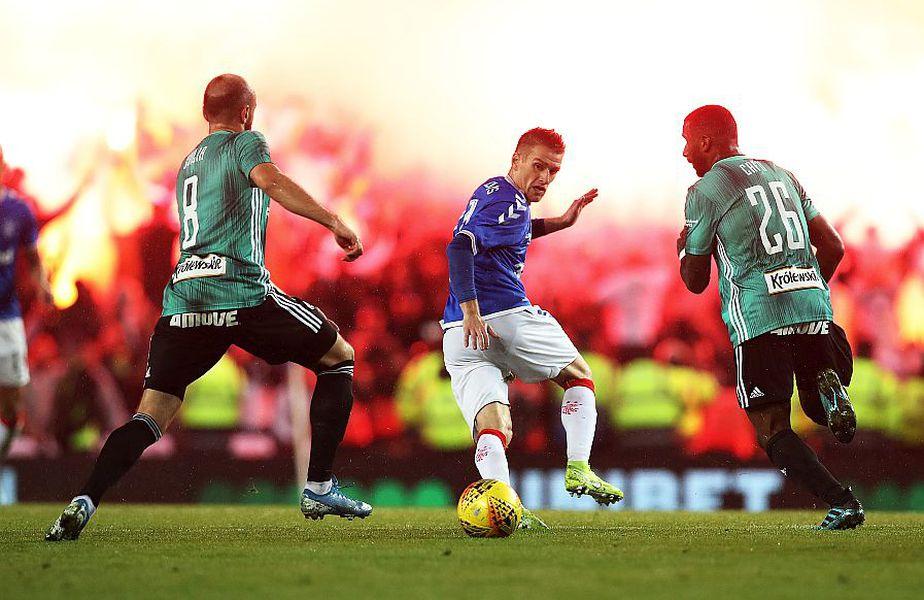 Suporterii lui Legia Varșovia, cu Glasgow Rangers, foto: Guliver/gettyimages