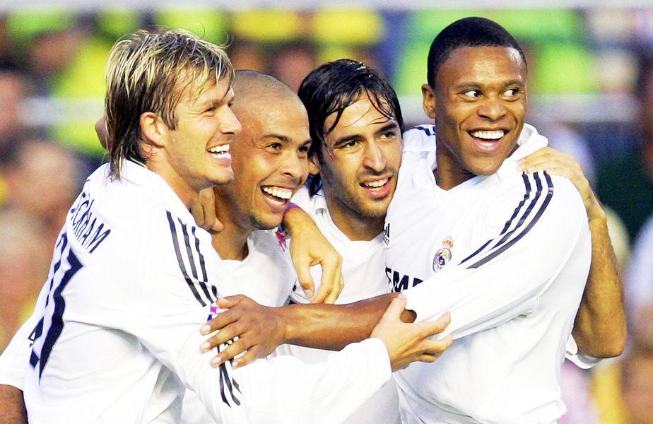 Beckham, Ronaldo, Raul și Julio Baptista în tricoul lui Real Madrid, foto: Guliver/gettyimages