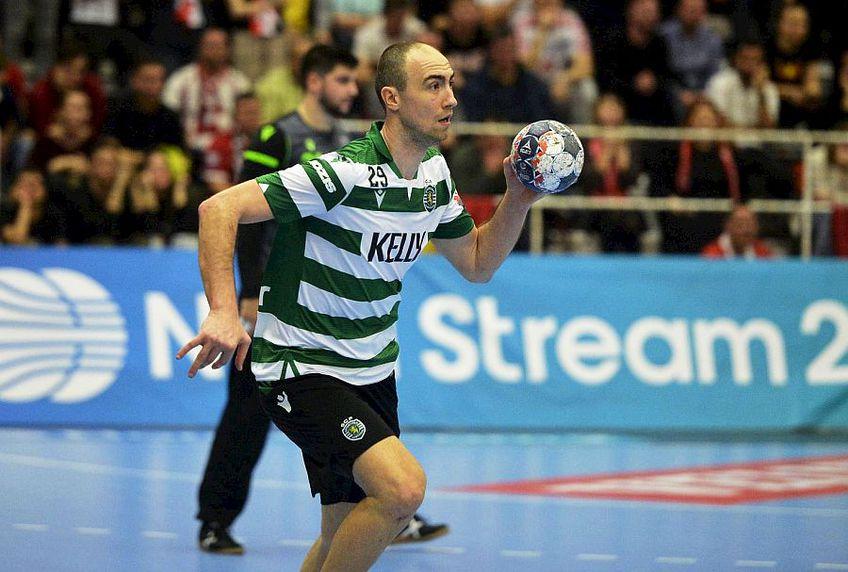 Valentin  Ghionea a înscris 13 goluri în duelul dintre Sporting și Dinamo, fiind în ambele manșe cel mai bun marcator al echipei sale FOTO Cristi Preda