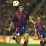 Gică Popescu pe vremea când juca la Barcelona