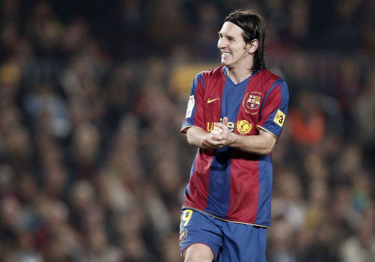 Messi, în tinerețe, la Barcelona