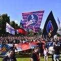 Fanii steliști au venit într-un număr impresionat la partida dintre CSA Steaua și CS Afumați, turul barajului pentru promovarea în Liga 2.