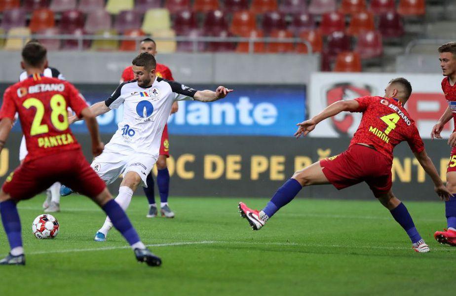 Sergiu Buș, la minge, a fost omul meciului