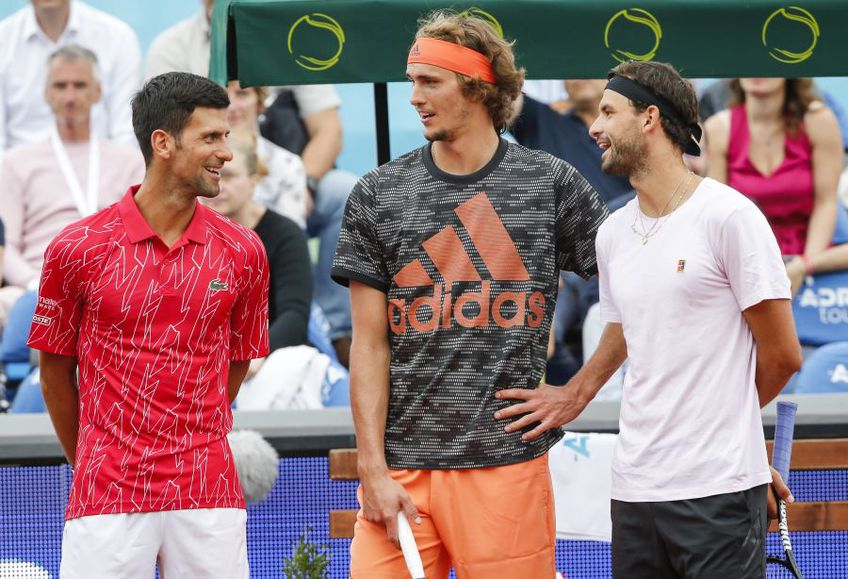 Djokovic, Zverev și Dimitrov în Adria Tour, foto: Guliver/gettyimages