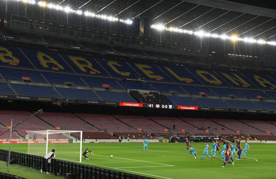 """Stadionul """"Camp Nou"""" a fost pustiu în meciul Barcelona - Leganes // foto: Guliver/gettyimages"""
