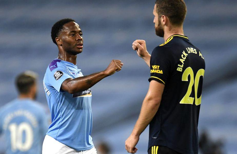Un jucător de la Arsenal a fost depistat pozitiv cu coronavirus, el evoluând în partida cu Manchester City din 17 iunie. foto: Guliver/Getty Images
