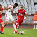 Florin Ștefan (alb) a marcat golul de 0-3 în Dinamo - Sepsi 1-3 // foto: Raed Krishan