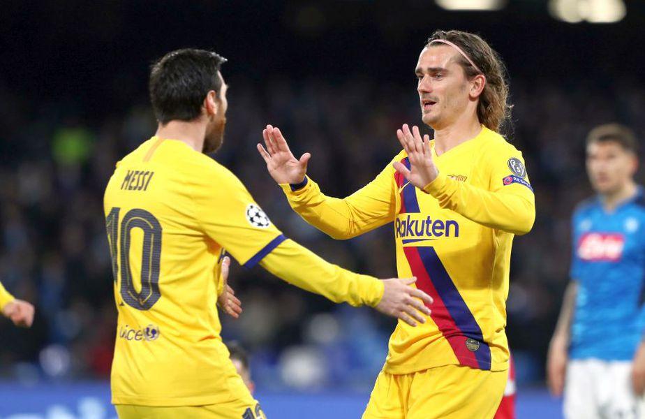 Lionel Messi (stânga) și Antoine Griezmann au fost paroape de bătaie la un antrenament al Barcelonei // foto: Guliver/gettyimages