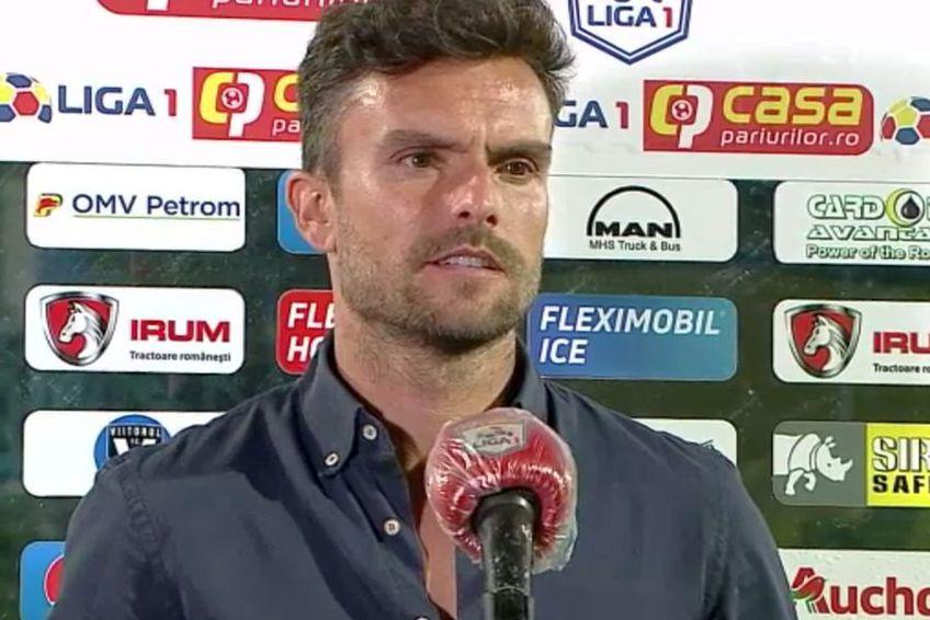 Ruben Albes. Captură TV Telekom Sport
